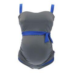 Petit Amour - Tankinitop mit Slip - ALENA - für Cup F und G -  grau/blau