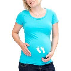 Umstandsmode T-Shirt mit lustigen Babyfüßchen...
