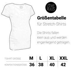 LoveRules - witziges T-Shirt mit Babyfüßchen flex - pink