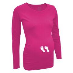 LoveRules - Langarm-Shirt mit Babyfüßchen - pink