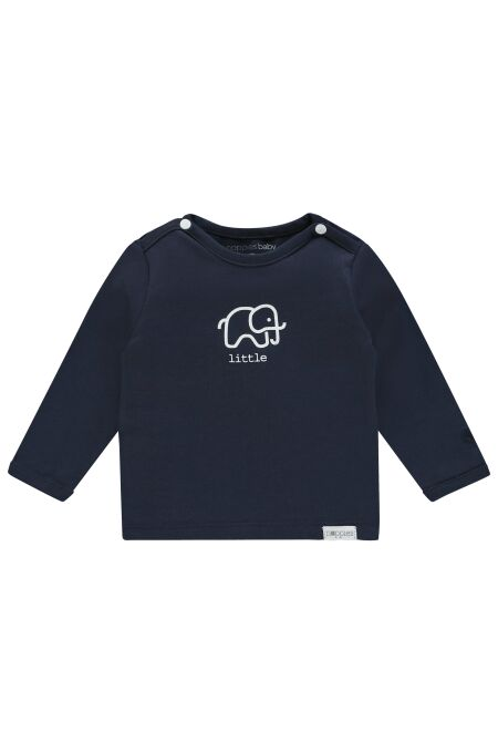Noppies Baby- Langarm-Shirt -Amanda elephant -navy