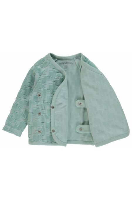 Noppies Baby - süße Jacke - Tallulah - grey mint 56