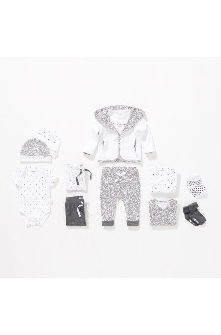 Noppies Baby- Söckchen Dot - 2er-Pack - dark grey melange