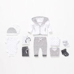 Noppies Baby- Söckchen Dot - 2er-Pack - dark grey melange
