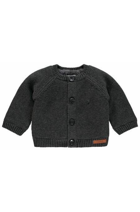 Noppies Baby- Strickjacke Dani - dark grey melange