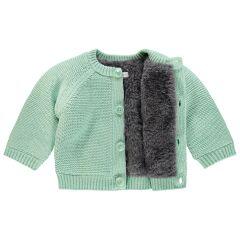 Noppies Baby- Strickjacke Lou - grey mint