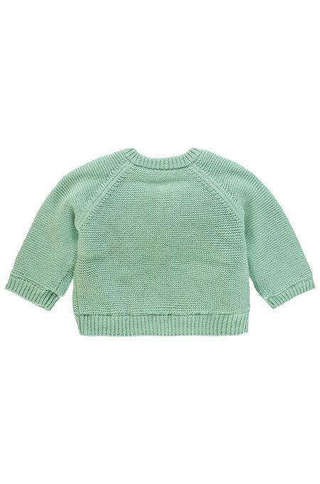 Noppies Baby- Strickjacke Lou - grey mint 62
