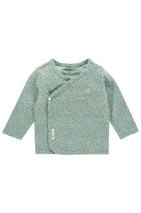 NoppiesBaby - Langarm-Shirt m. Pünktchen - Hannah - grey mint