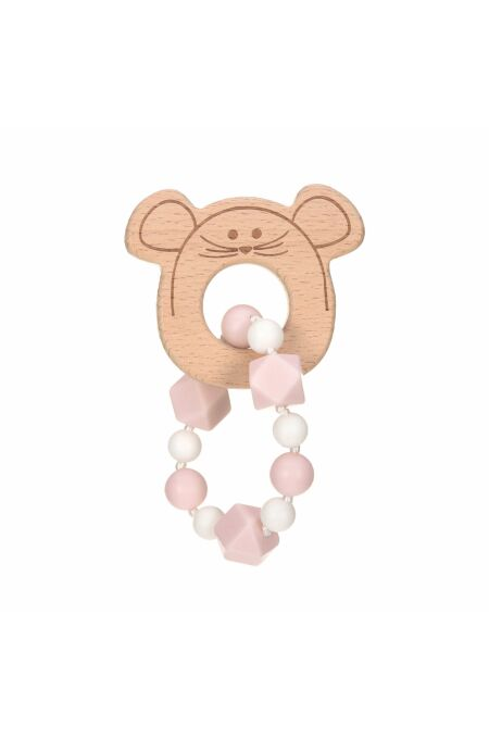 Lässig- Beißring-Armband - Teether Bracelet Wood/Silicone - little chums mouse