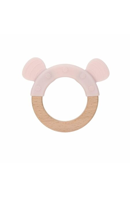 Lässig- Beißring - Teether Wood/Silicone - little chums mouse