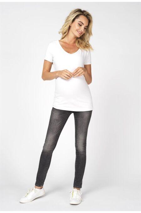 Noppies -Basic T-Shirt mit V-Ausschnitt - Rome - optical white