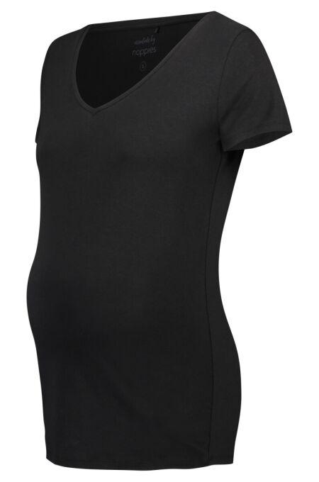 Noppies -Basic T-Shirt mit V-Ausschnitt - Rome - black