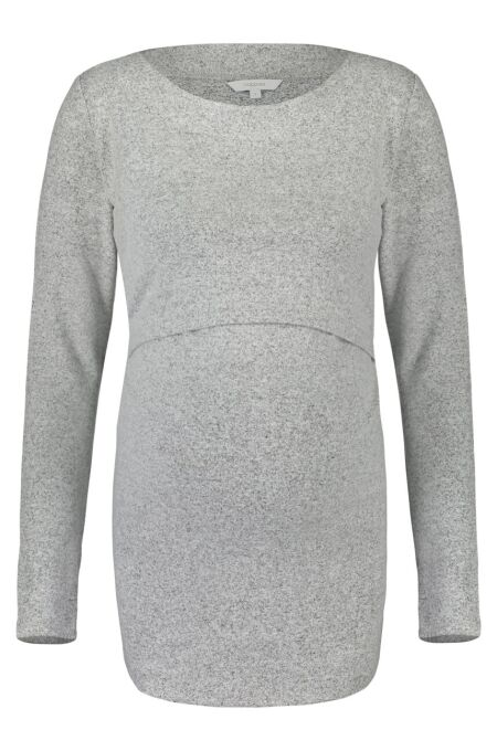 Noppies - kuschliger Still-Pulli - Lane - grey melange