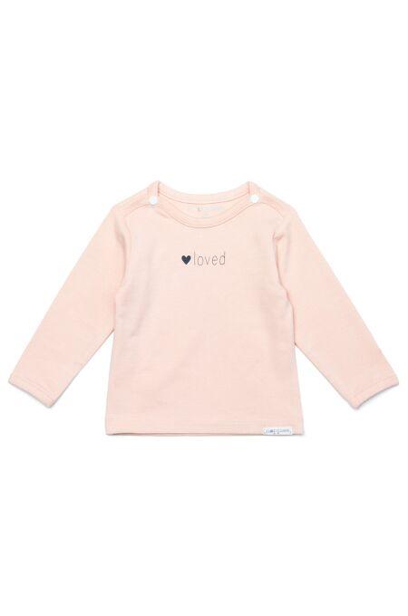 NoppiesBaby - Langarm-Shirt - Yvon tekst - peach skin