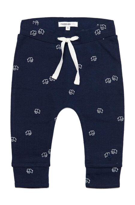NoppiesBaby - Hose jersey comfort mit Elefanten - Joel - navy