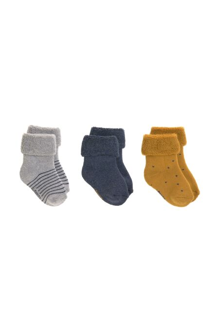 Lässig - Babysocken (3er-Pack) - Newborn Socks - blue