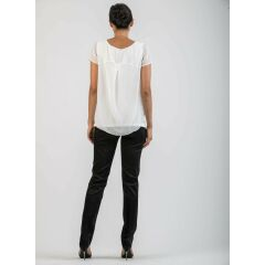 Attesa - schicke Hose - Pantalone Trouser - black