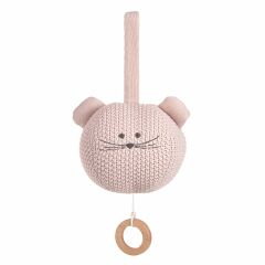 Lässig - Spieluhr -Knitted Musical Little Chums Mouse - rosa