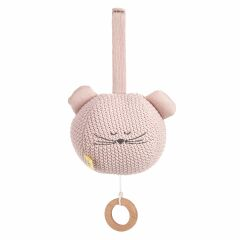 Lässig - Spieluhr -Knitted Musical Little Chums Mouse - rosa