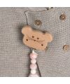 Lässig - Schnuller-Kette -Soother Holder Wood/Silicone - little chums mouse