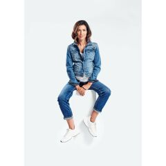 Love2Wait -  modische Jeansjacke - stone wash - denim blue