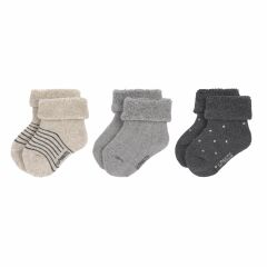 Lässig - Babysocken (3er-Pack) - Newborn Socks - grey
