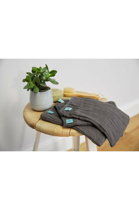 Lässig - Washgloves - Muslin - anthracite