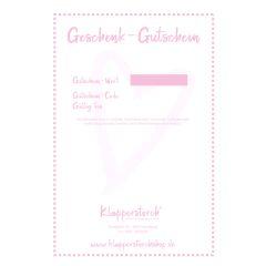 Klapperstorch® Geschenk-Gutschein