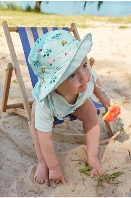 Lässig - Sonnenhut Kinder - UV Schutz Bucket Hat - caravan mint