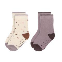 Lässig - Kinder Antirutsch-Socken (2er-Pack)  - Tiny Farmer Lila