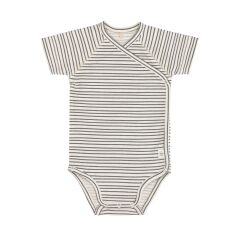 Lässig - Wickelbody Kurzarm GOTS - Striped Grey