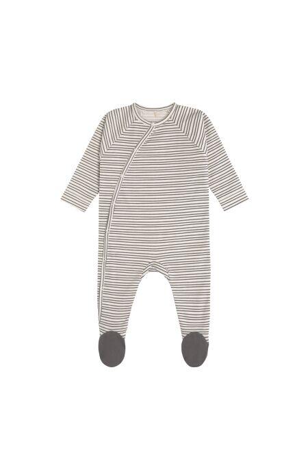 Lässig - Schlafanzug  mit Füßen - striped grey