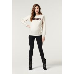 Supermom - Sweater Amour - Oatmeal melange