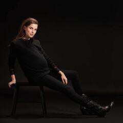 Supermom - Langarmshirt Fancy - Black