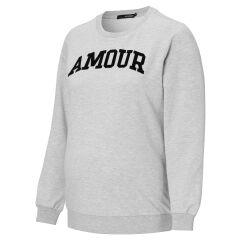 Supermom - Umstands-Sweater Amour - grey melange
