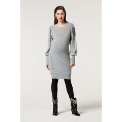 Supermom - Umstandskleid Midi - grey melange