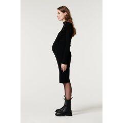 Supermom - Kleid Button Rib - black