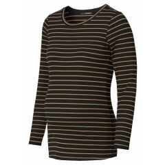 Supermom - Langarmshirt Stripe - Toasted Coconut