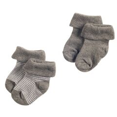 Noppies Baby B Socks 2pck Guzzi Anthracite Melange 0-3