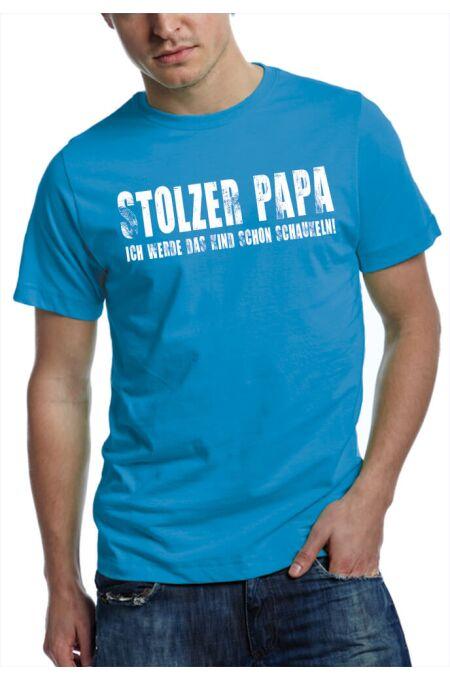 T-Shirt stolzer Papa - teal