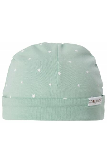 Noppies- Babymütze zum Wenden - Dani - all over print - grey mint PREM