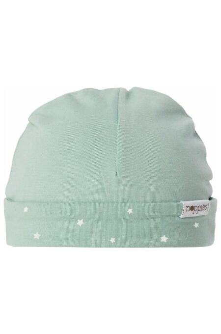 Noppies- Babymütze zum Wenden - Dani - all over print - grey mint 0-3-M