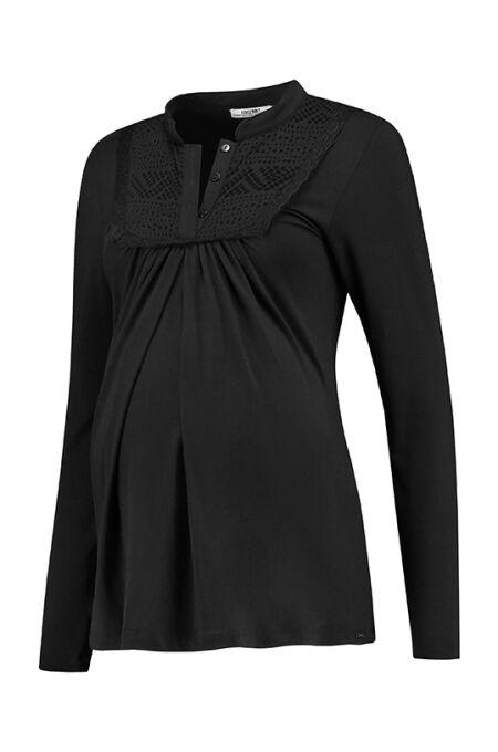 Love 2 Wait - elegantes Still-Shirt - schwarz