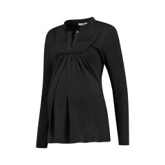 Love 2 Wait - elegantes Still-Shirt - schwarz